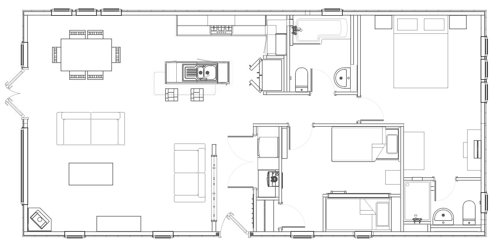 2 Bed Casa Di Lusso Lodge Floorplan
