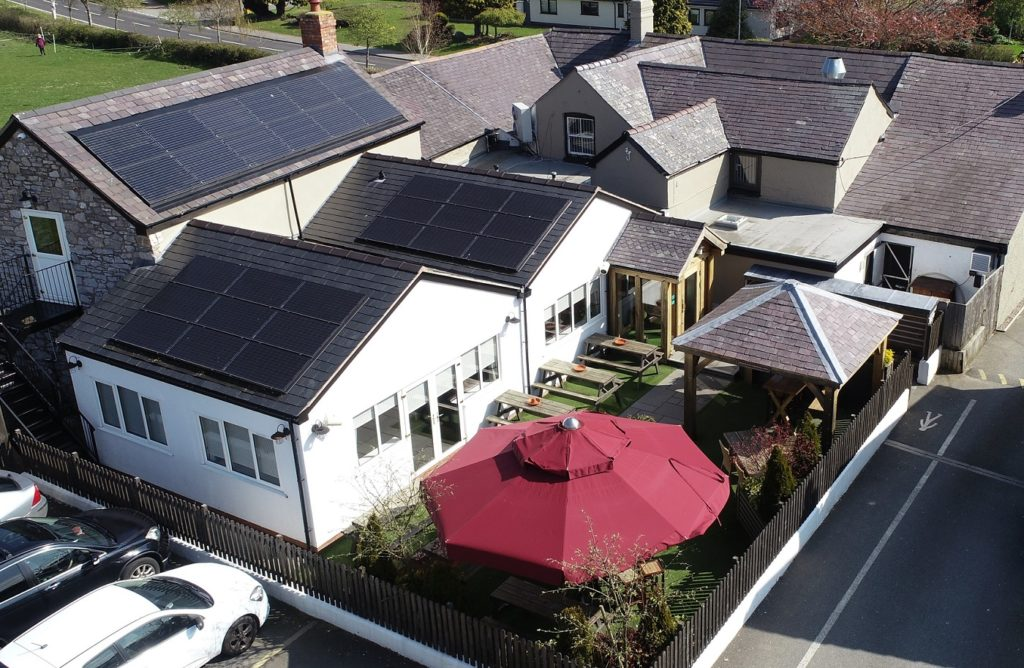 Solar Power helps cook your food at The Piccadilly Inn