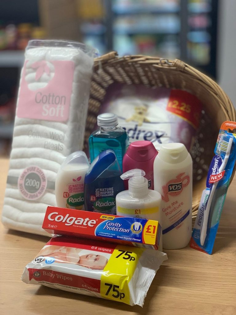 The toiletries hamper Central Store Caerwys