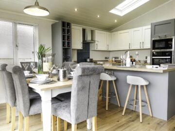 Maes Mynan North Wales Open Plan Kitchen&Dining Maderia Lodge by Aspire Parl & Leisure Homes